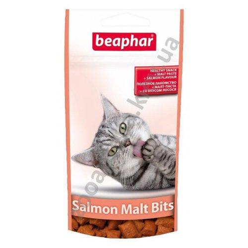 Beaphar Malt-Bits with Salmon - Средство Бифар для выведения шерсти из желудка, со вкусом лосося