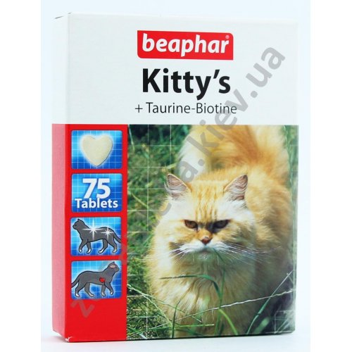 Beaphar Kitty`s Taurin and Biotin - витаминизированное лакомство Бифар для кошек