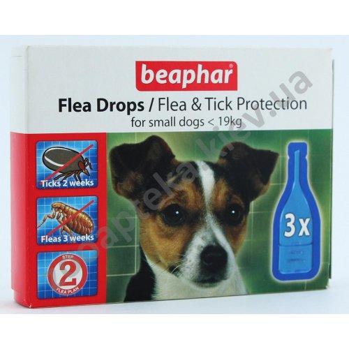 Beaphar Flea Drops - капли против блох и клещей Бифар для собак мелких пород