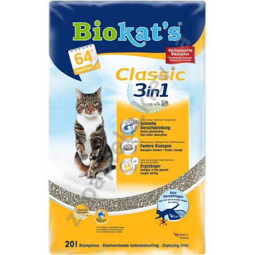 Gimpet Biokats Classic 3 in 1 - наполнитель Гимпет Биокетс Классик 3 в 1