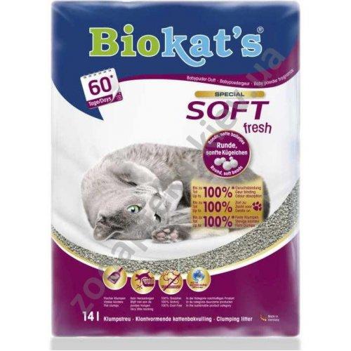 Gimpet Biokats Soft Fresh - наполнитель Биокетс с детской присыпкой