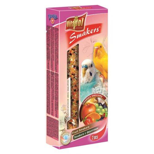 Vitapol Fruit Smakers - лакомство Витапол с фруктами для волнистых попугаев в колбе