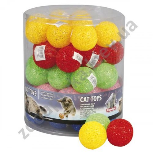 Karlie-Flamingo Glitter Ball - блестящий мяч из латекса Карли-Фламинго для кошек