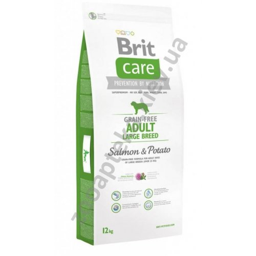 Brit Care Adult Large Breed Salmon & Potato - корм Брит для собак крупных и гигантских пород