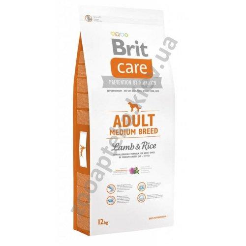 Brit Care Adult Medium Breed Lamb & Rice - корм Брит суперпремиум класса для собак средних пород