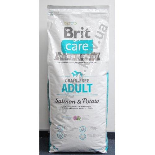 Brit Care Adult Salmon & Potato - корм Брит с лососем и картофелем для мелких и средних собак