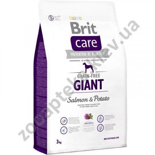 Brit Care Giant Salmon & Potato - корм Брит для взрослых собак гигантских пород