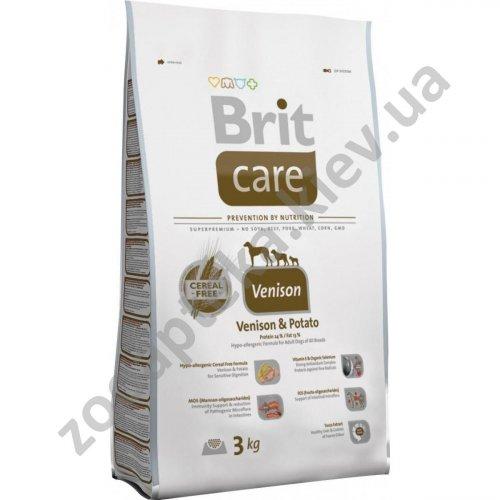 Brit Care Venison & Potato All Breed - корм Брит для собак всех пород, с олениной и картофелем