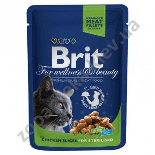 Brit Premium - корм Брит с курицей для стерилизованных кошек