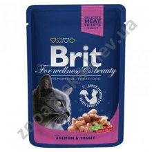 Brit Premium - корм Брит с лососем и форелью для кошек