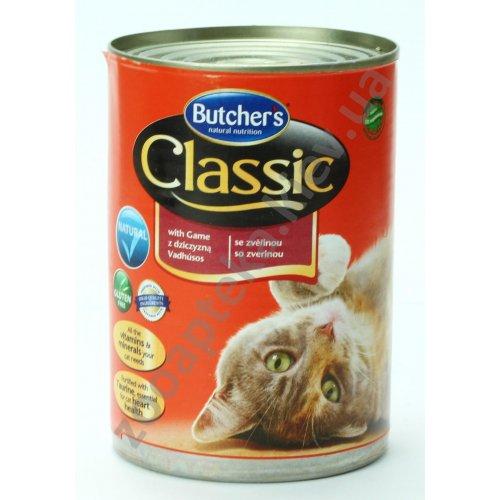 Butchers Cat Classic Game - консервы Батчерс с дичью для кошек