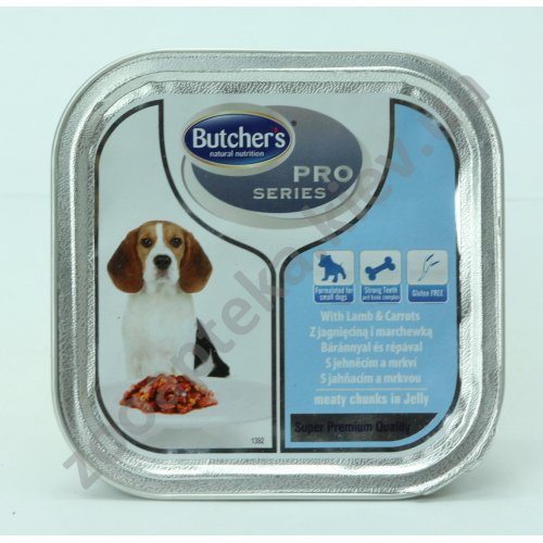 Butchers Dog Pro Lamb Carrots - консервы Батчерс с ягненком и морковью, кусочки в желе для собак