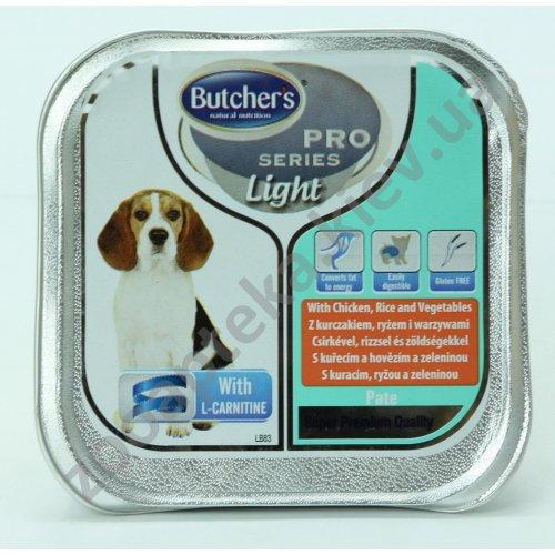 Butchers Dog Pro Light - обезжиренный паштет Батчерс с курицей, рисом и овощами для собак