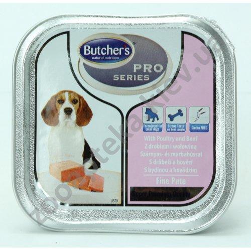 Butchers Dog Pro Poultry Beef - паштет Батчерс с птицей и говядиной для собак