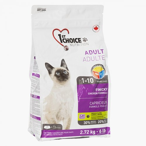 1-st Choice - корм Фест Чойс с курицей для активных привередливых кошек