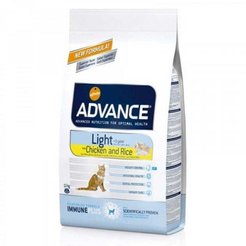 Advance Cat Light - корм Эдванс для кошек с избыточным весом или имеющих склонных к полноте