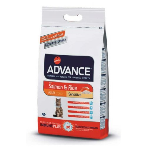 Advance Cat Sensitive Salmon & Rice - корм Эдванс с лососем и рисом для кошек с чувствительным пищев