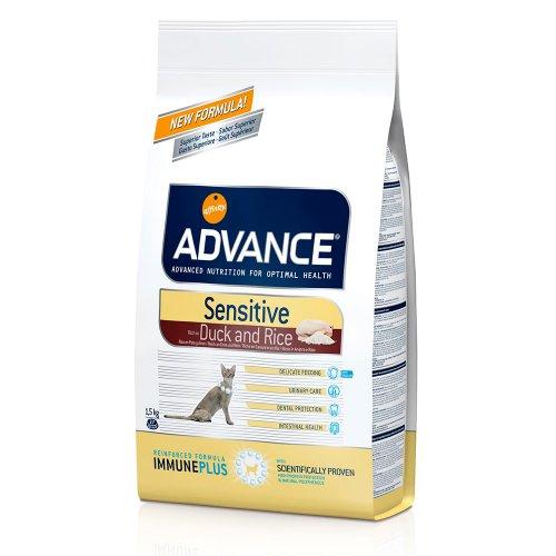 Advance Cat Sensitive - корм Эдванс для привередливых кошек, с уткой и рисом