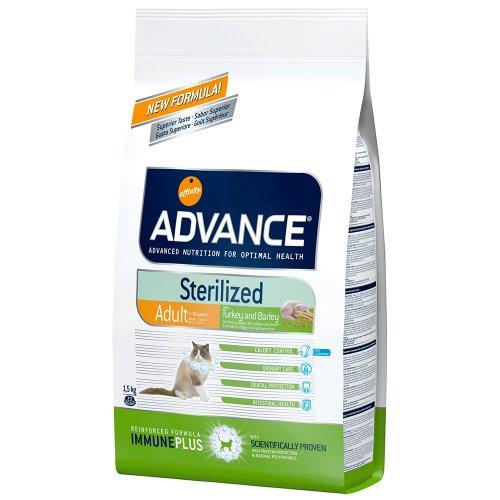 Advance Cat Sterilized - корм Эдванс для стерилизованных кошек до 10-лет, c индейкой и ячменем