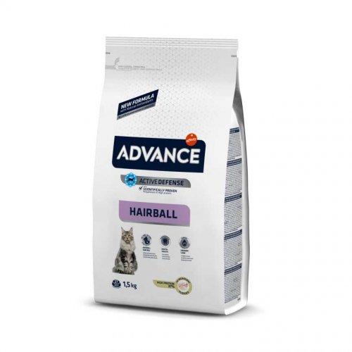 Advance Cat Hairball - корм Эдванс для домашних кошек, с индейкой и рисом