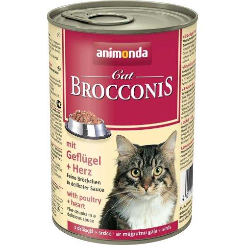 Animonda Brocconis - консервы Анимонда Брокконис с птицей и сердцем для кошек