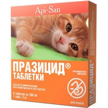 Апи-Сан Празицид - таблетки от глистов для кошек