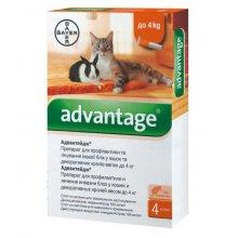 Bayer Advantage 40 - капли Байер Адвантейдж от блох для кроликов, котят и кошек до 4 кг