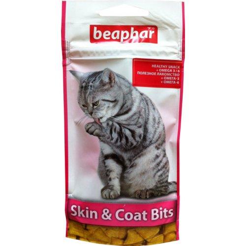 Beaphar Skin and Coat Bits - кормовая добавка Бифар для здоровой кожи и шерсти кошек