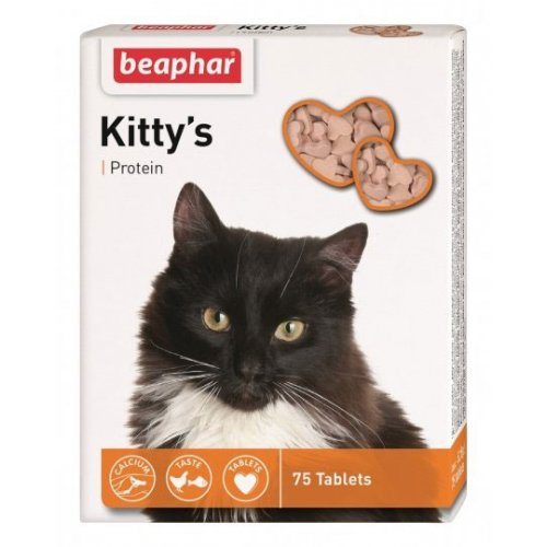 Beaphar Kitty`s Protein - витаминизированное лакомство Бифар для кошек с протеином