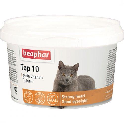 Beaphar Top 10 For Cats - пищевая добавка Бифар с таурином для кошек