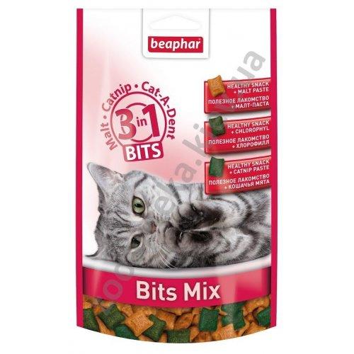Beaphar Bits Mix- лакомство Бифар три в одном для кошек