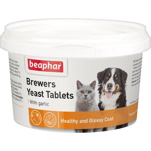 Beaphar Brewers Yeast Tablets With Garlic - таблетки Бифар с пивными дрожжами и чесноком