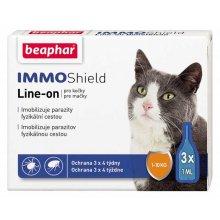 Beaphar IMMO Shield - капли от блох и клещей Бифар для кошек