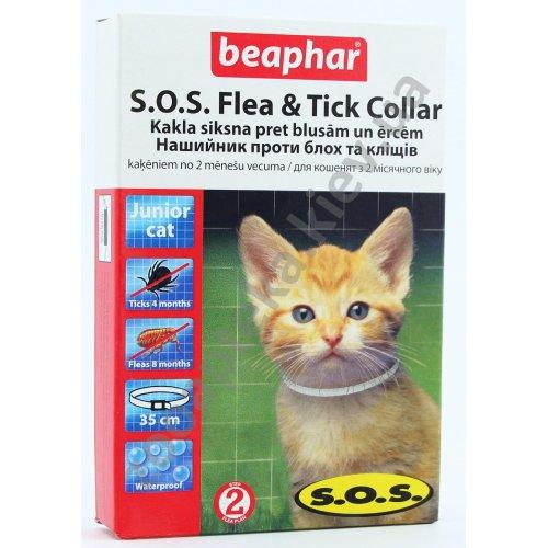 Beaphar S.O.S. Fleacollar Kitty - ошейник Бифар для котят против блох