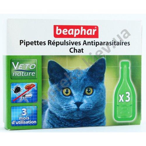 Beaphar Pipettes Repulsives Antiparasitaires Chat - капли Бифар для взрослых кошек
