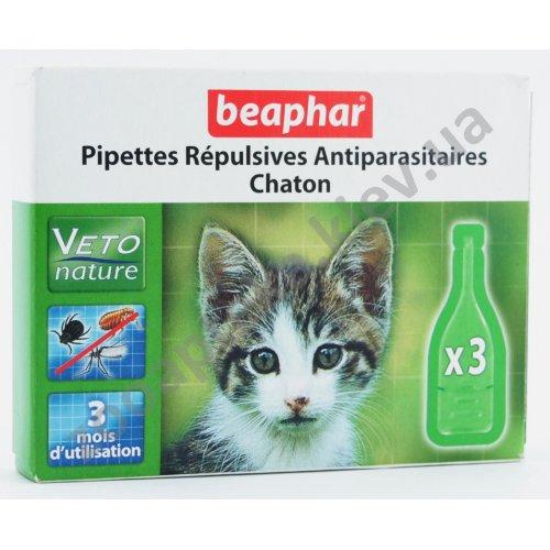 Beaphar Pipettes Repulsives Antiparasitaires Chaton - капли Бифар для котят
