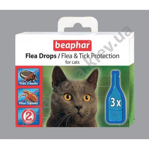 Beaphar Flea Drops for Cats - Капли Бифар от блох и клещей для кошек c шестимесячного возраста