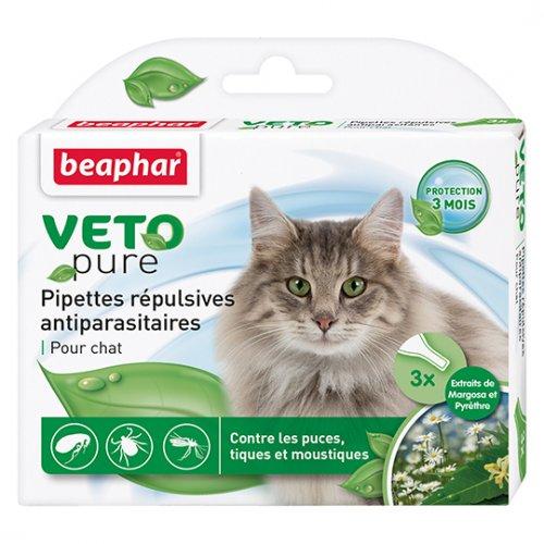 Beaphar Veto Pure Pipettes Repulsives Antiparasitaires Chat - капли Бифар для взрослых кошек