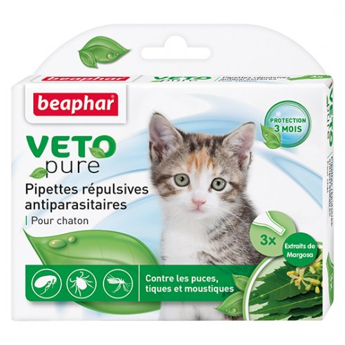 Beaphar Veto Pure Pipettes Repulsives Antiparasitaires Chaton - капли Бифар для котят