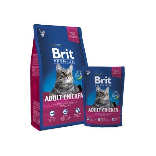 Brit Premium Cat Adult Chicken - корм Брит с курицей для кошек
