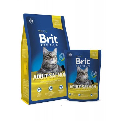 Brit Premium Cat Adult Salmon - корм Брит с лососем для кошек