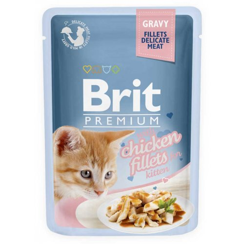 Brit Premium Kitten - корм Брит с курицей в соусе для котят
