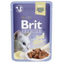 Brit Premium - корм Брит с говядиной в желе для кошек