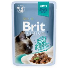 Brit Premium - корм Брит с говядиной в соусе для кошек