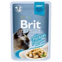 Brit Premium - корм Брит с курицей в соусе для кошек