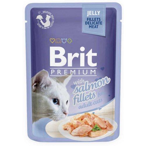 Brit Premium - корм Брит с лососем в желе для кошек