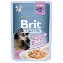 Brit Premium - корм Брит с лососем для стерилизованных кошек