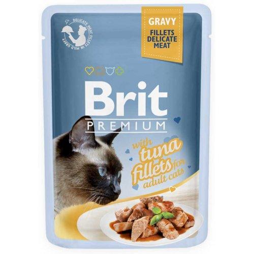 Brit Premium - корм Брит с тунцом в соусе для кошек