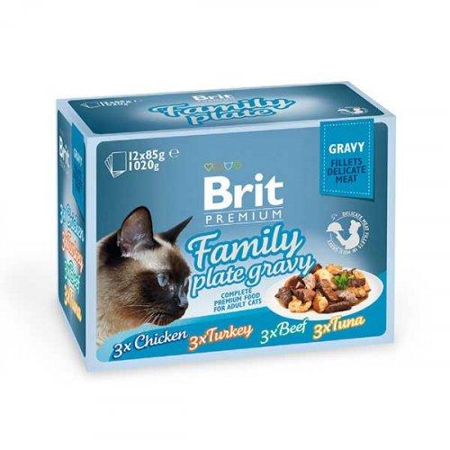 Brit Premium Family Plate Gravy - корм Брит Ассорти Семейная тарелка в соусе