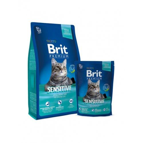 Brit Premium Cat Sensitive - корм Брит для кошек с чувствительным пищеварением